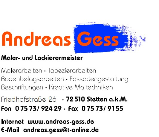 Andreas Gess Maler- und Lackierermeister